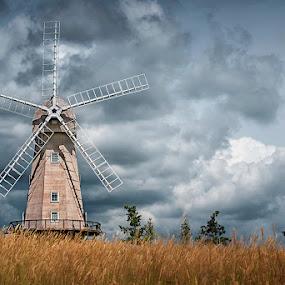 Staplehurst Windmill by Jude Stewart - Buildings & Architecture Other Exteriors ( breeze, sky, landscape, storm, windmill,  )