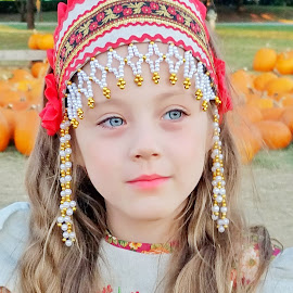 Russian beauty  by Anna Cole - Babies & Children Child Portraits ( #girl #toddler #kids #dress #russian #costume )