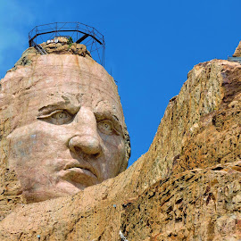 The face of Crazy Horse by Mary Gallo - Buildings & Architecture Statues & Monuments (  )