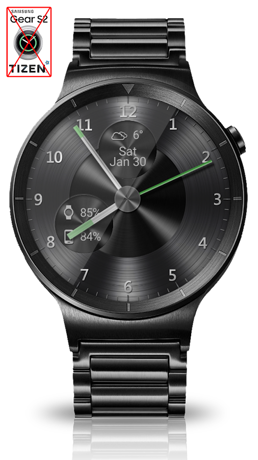 Black Metal HD Watch Face Screenshot 5
