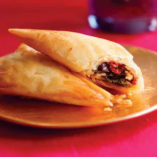Spinach, Feta & Sun-Dried Tomato Phyllo Triangles