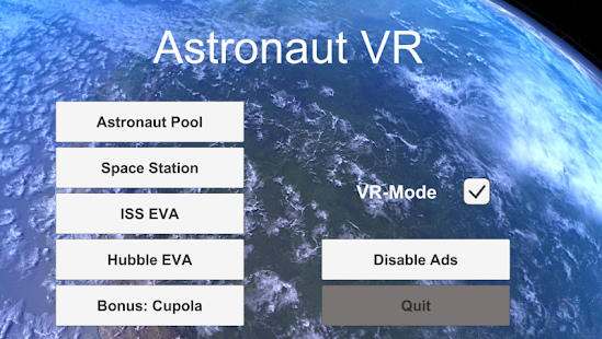 Astronaut VR Google Cardboard screenshot for Android