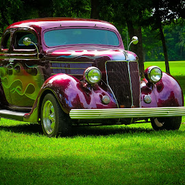 Road to Hope - Ford Coupe by Ron Meyers - Transportation Automobiles