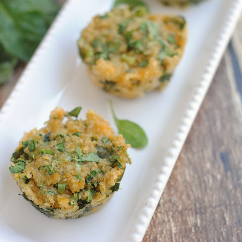 Cheesy Quinoa Spinach Cups