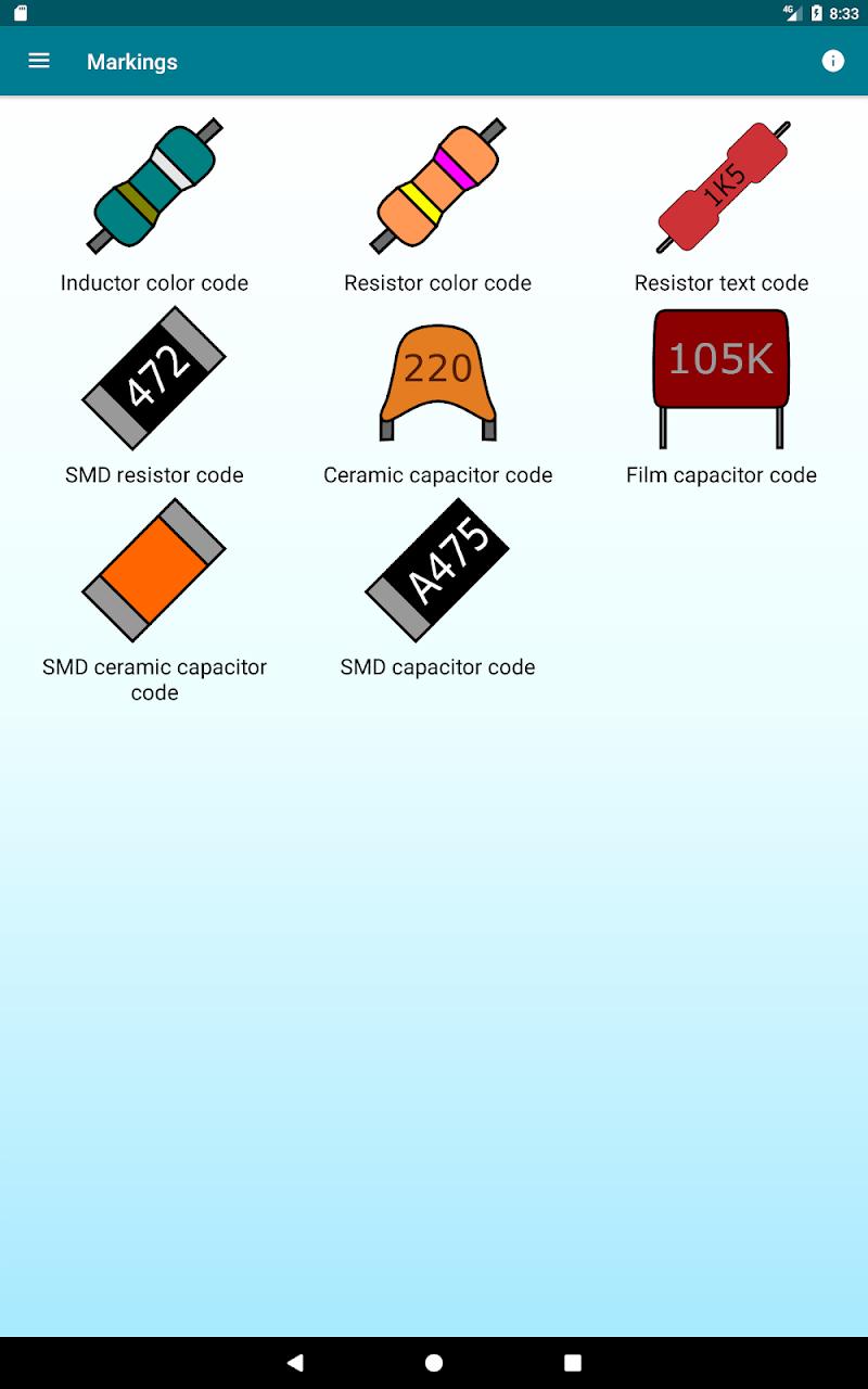 Radio components calculator Screenshot 9