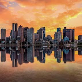 good morning Boston. by Gigi Kent - City,  Street & Park  Skylines (  )