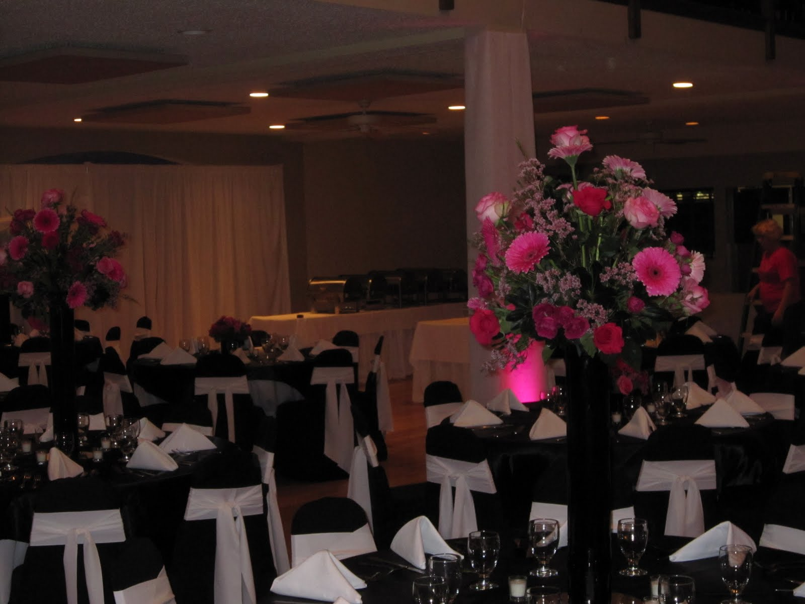 damask wedding centerpieces