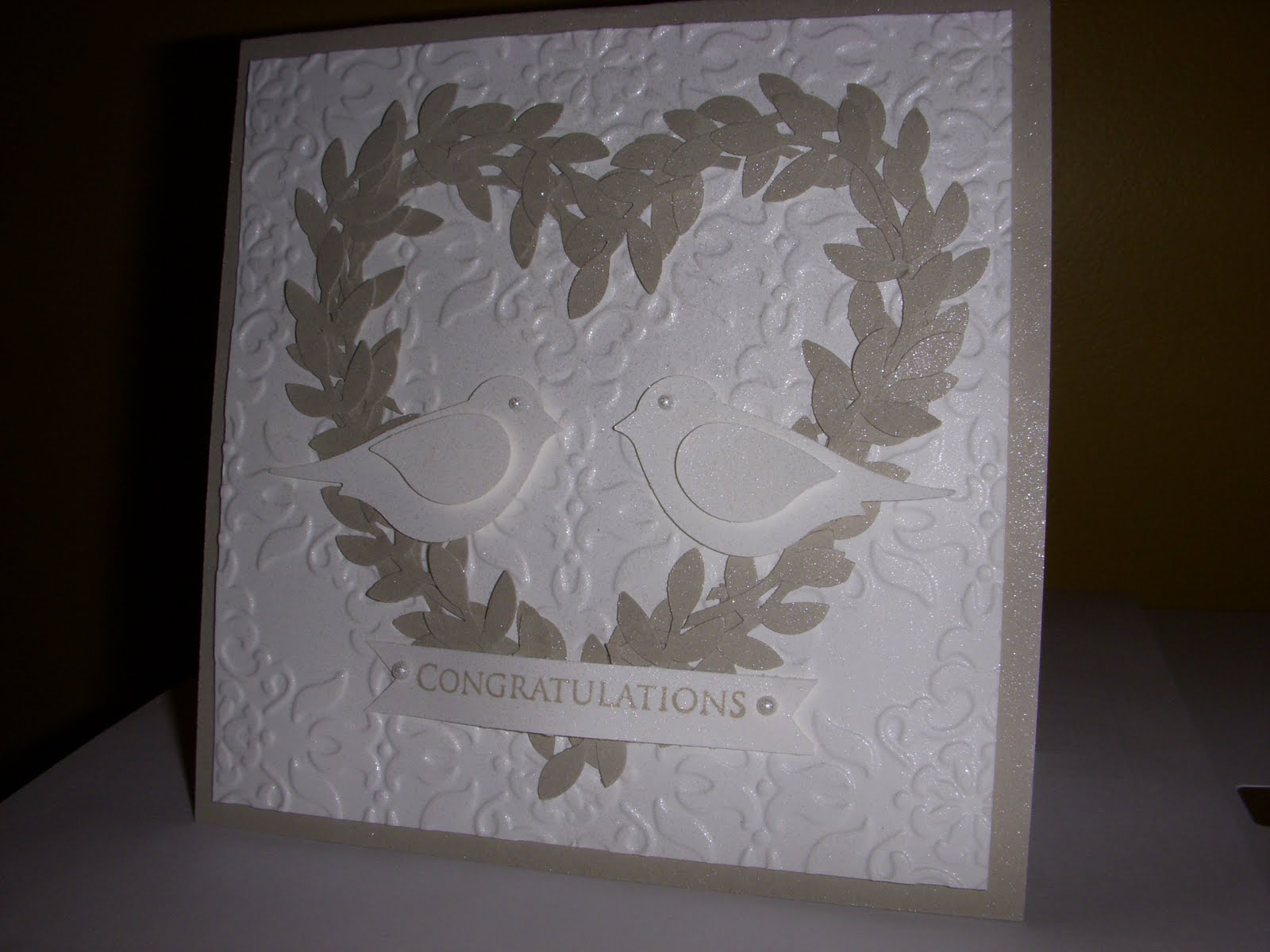 Love Birds Wedding or Anniversary Card