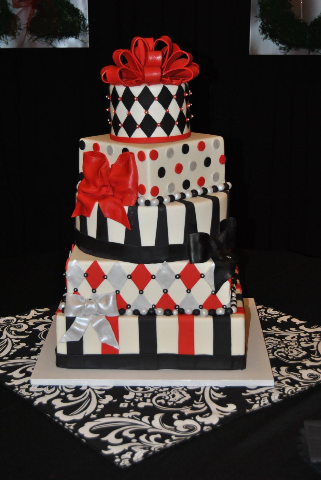 Red, Black & Silver Wedding