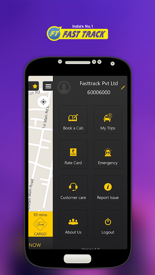 Fasttrack Taxi App Screenshot 2