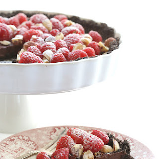 No Bake Nutella Raspberry Tart