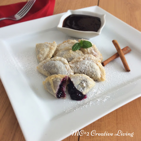 Fried Blueberry Perogies