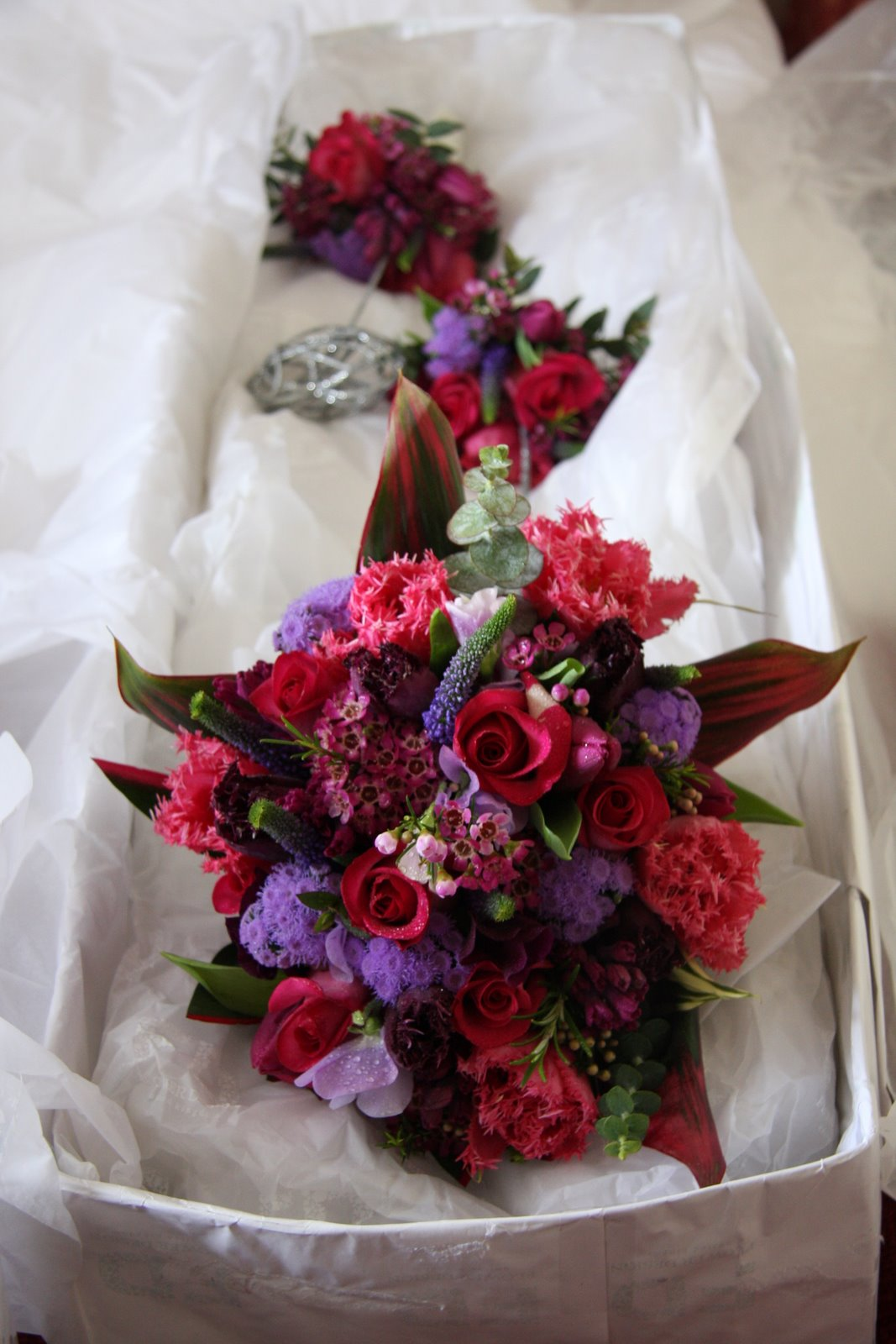 Amies Blog Purple Wedding Bouquet