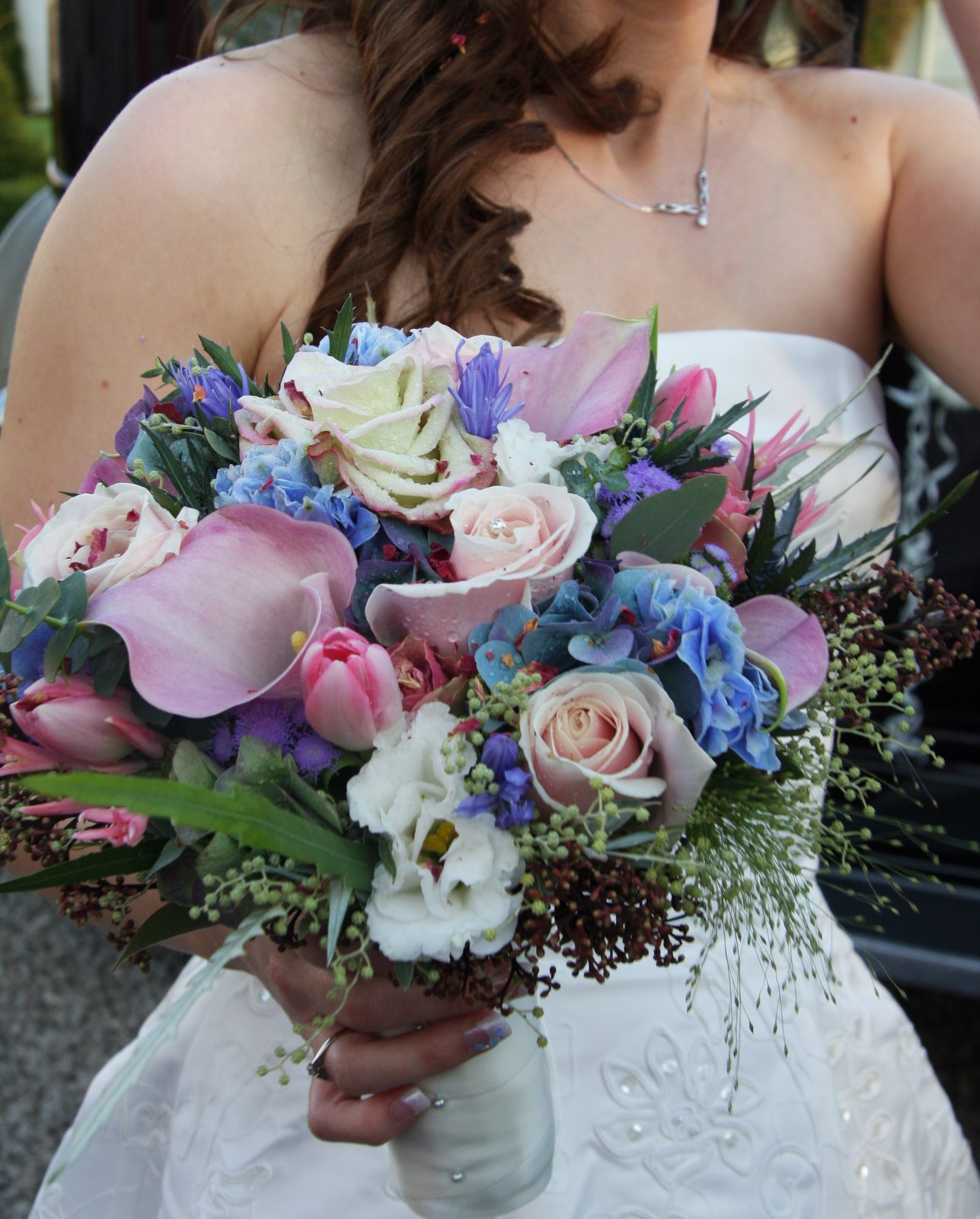 Ice Blue & Pale Pink Wedding