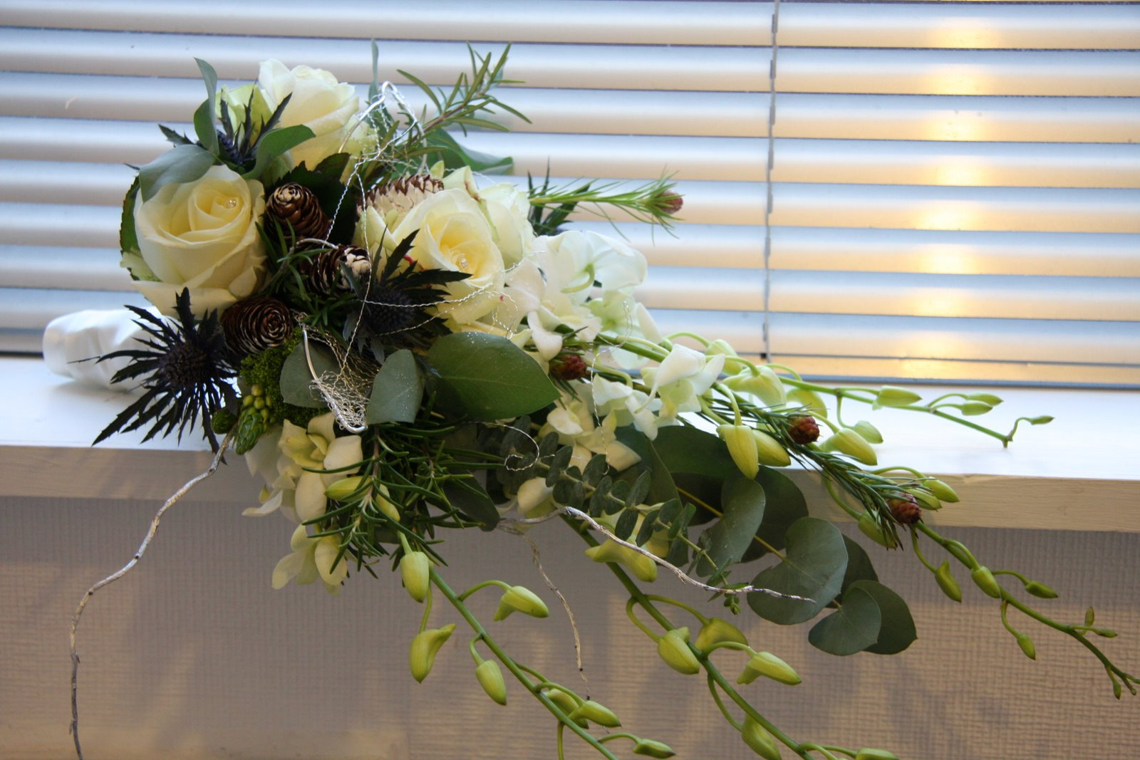 flowers layout at wedding