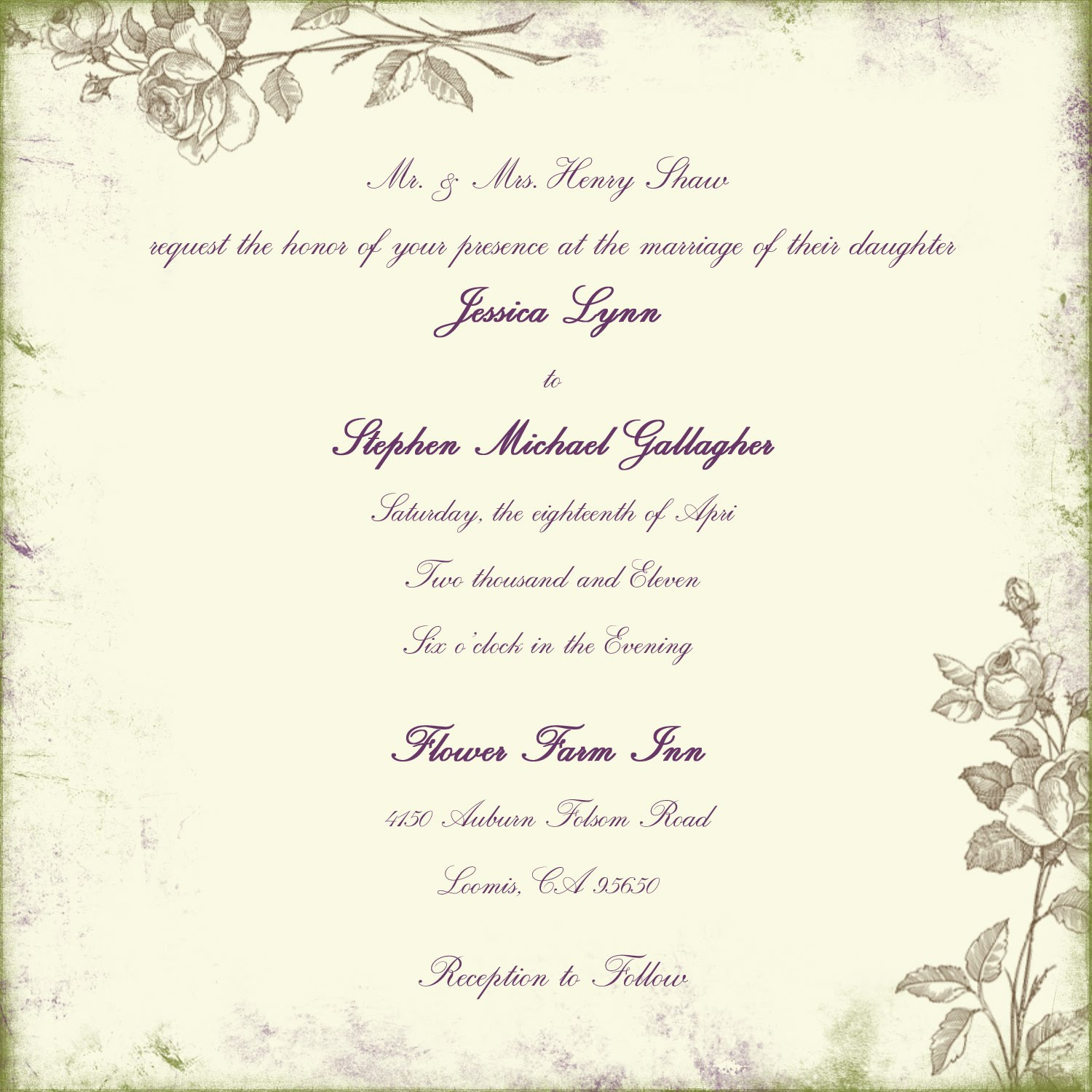 dili 39 s blog sample of wedding invitation
