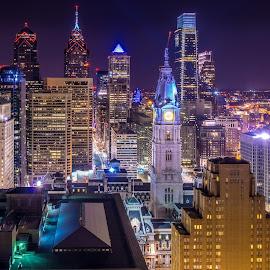 Philadelphia Lights by James Cullen - City,  Street & Park  Skylines