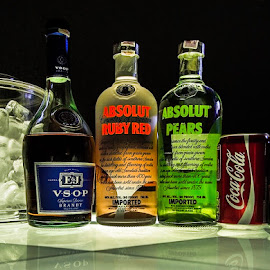 and friends by Waluya Aljiun - Food & Drink Alcohol & Drinks ( ice, alcohol, tin cans, vodka, brandy )