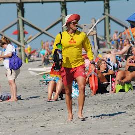 Lifeguard by Prentiss Findlay - People Street & Candids ( lifeguard, lifeguard at beach, ocean lifeguard, lifeguard at ocean, beach lifeguard )