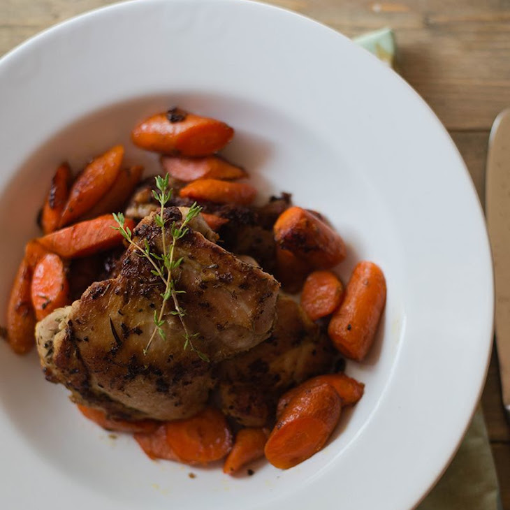 Dijon-Roasted Chicken And Carrots Recipe | Yummly