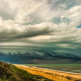 The Beast by Tim Kato - Landscapes Weather ( clouds, beaches, nature, weather, shelf, ocean, beach, landscapes, landscape, storm, natural )