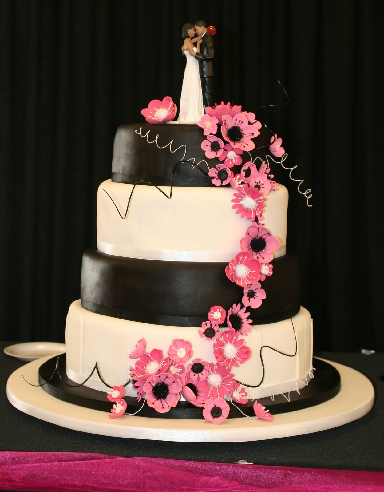 Hot Pink Black And White Wedding Flowers - Flowers Healthy