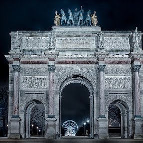 Arc de triomphe du carrousel by Mike Kremer - Buildings & Architecture Public & Historical ( paris, arc de triomphe, arc, ekimpix, night )