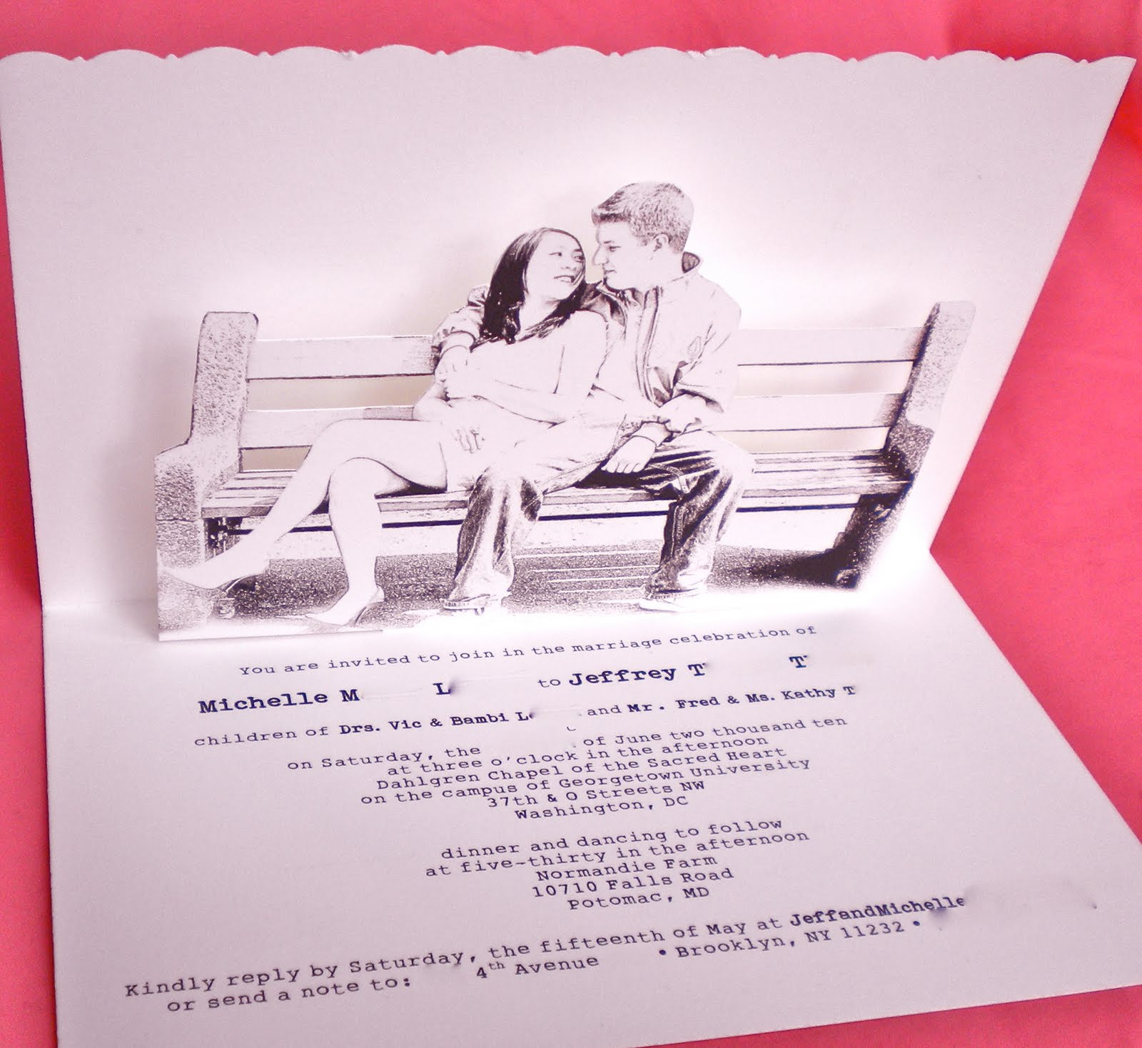 Nana\'s blog: pop up wedding invitations