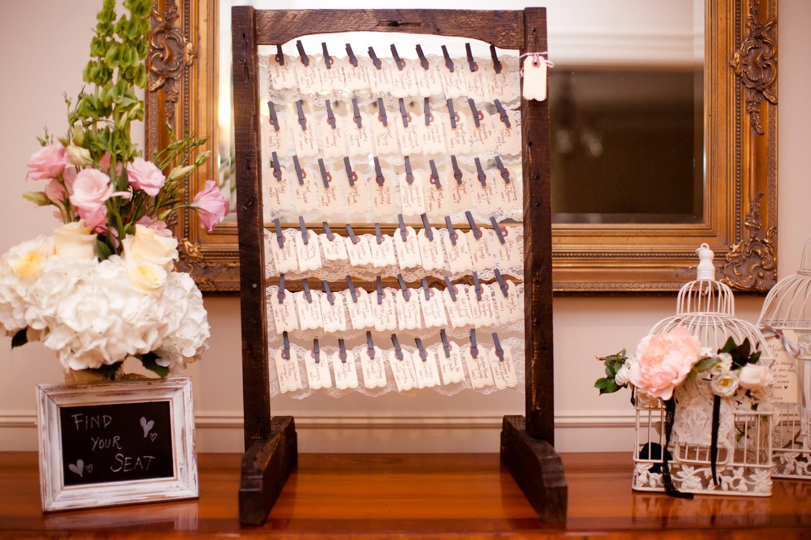Diy wedding seating chart