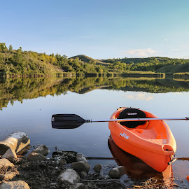 Mirror Mirror by Laura Gardner - Novices Only Objects & Still Life ( water, kyaking, happy place, nd, outdoors, lake,  )