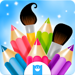 Doodle Coloring Book Icon