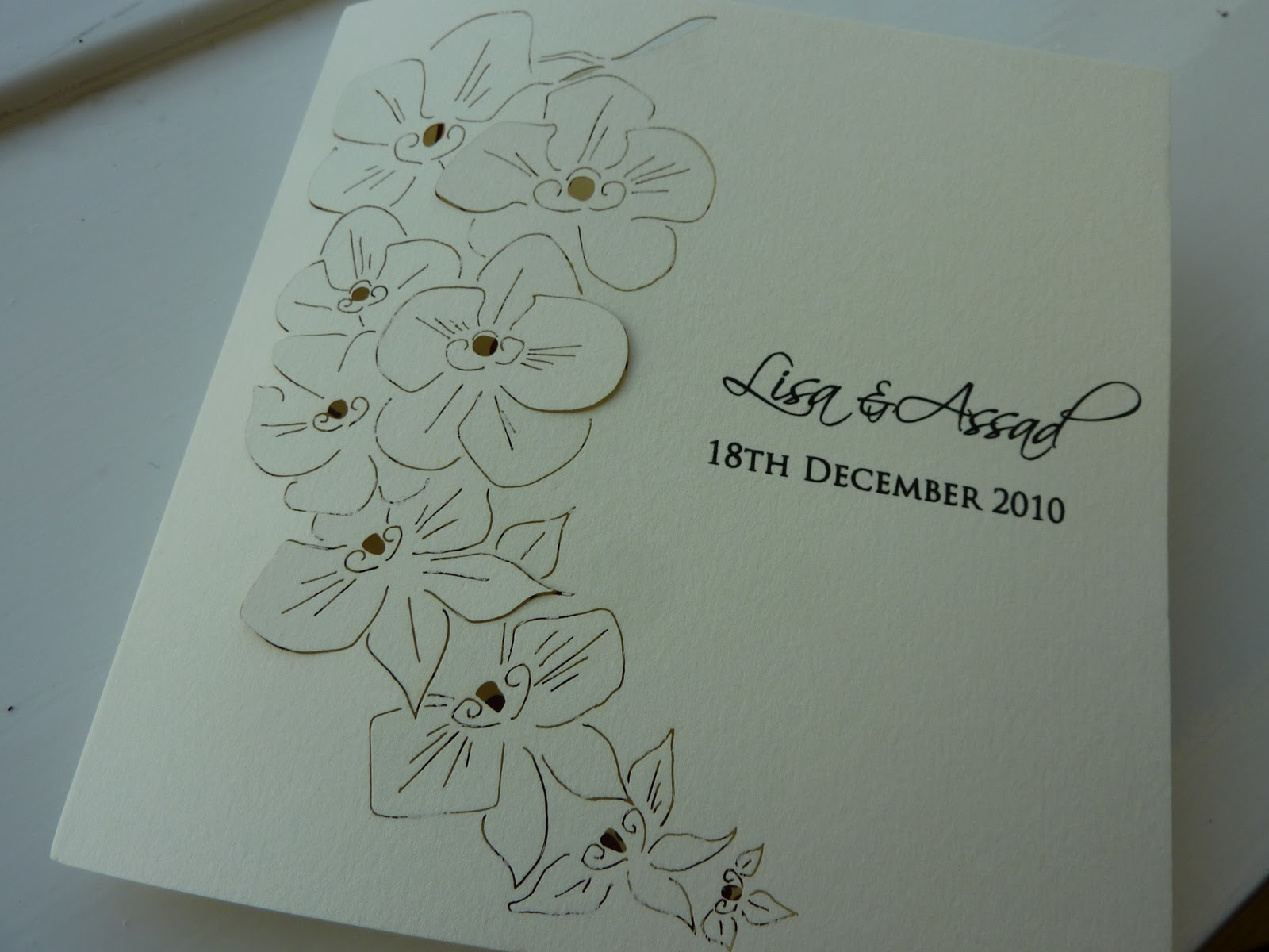 Orchid Laser cut wedding