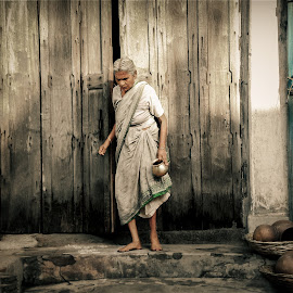 Sanctity inside the Streets of India. by Debesh Pattnayak - People Street & Candids ( religion, hindu, street, india, old woman, people )