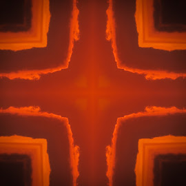 Burning, hot, design by Judith Dueck - Digital Art Abstract ( vertical, decorative, bright, illustration, vivid, glow, geometric, backdrop, jagged, dramatic, fabric, border, black, abstract, orange, edge, texture, wallpaper, art, canvas, paint, stripes, board, iridescence, fire, material, geometry, frame, red, pattern, boiling, background, strips, hot, lines, burn, wall, design )