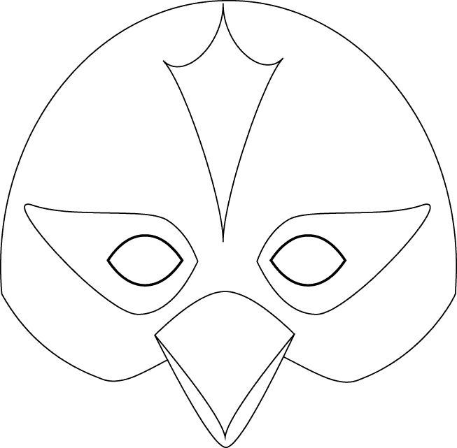Маска птиц из бумаги своими руками