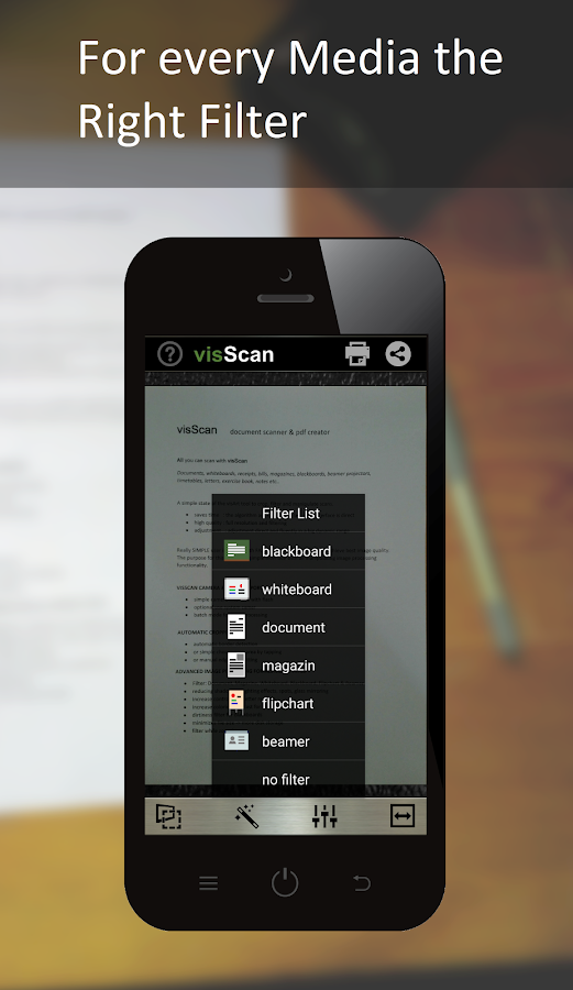 visScan - Document Scanner Screenshot 0