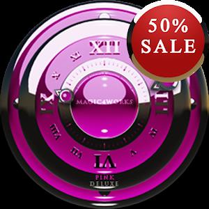 Pink S Analog Clock Widget