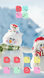 Cute snowman delicate topic - screenshot
