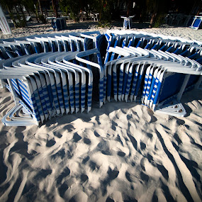 Sand by Cristobal Garciaferro Rubio - Abstract Patterns ( chair, sand, afternoon, shadow, patter, sun )