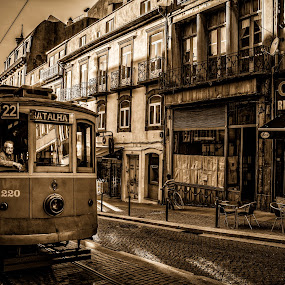 Batalha by Frans Scherpenisse - City,  Street & Park  Street Scenes ( tram, transportation, portugal, street photography, porto )