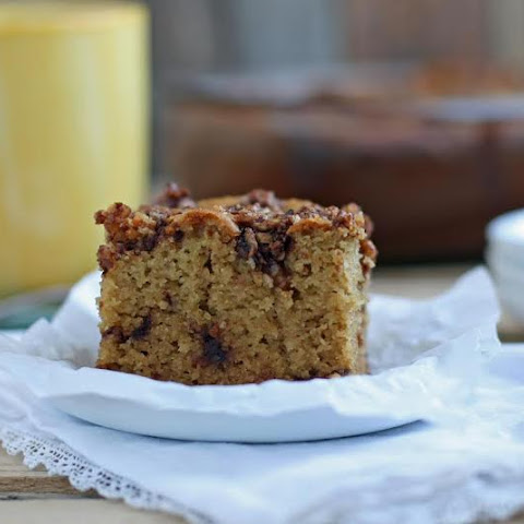 Cinnamon Crumb Coffee Cake - grain-free, paleo, with low carb & vegan options
