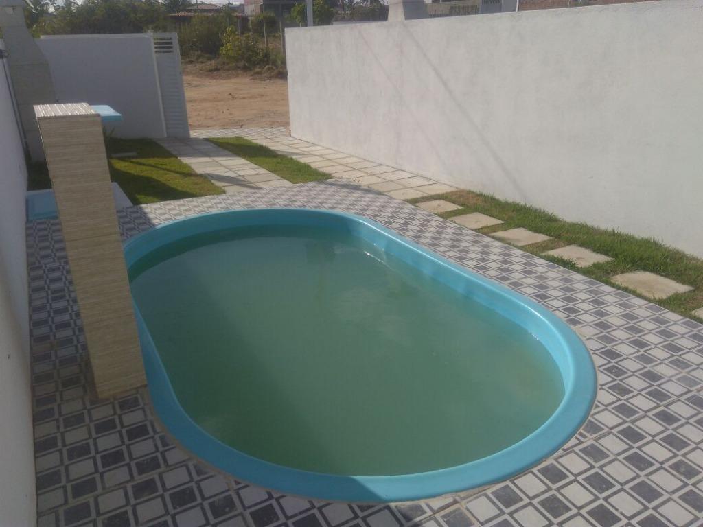 Casa com 2 dormitórios à venda por R$ 132.000,00 - Praia de Carapibus - Conde/PB
