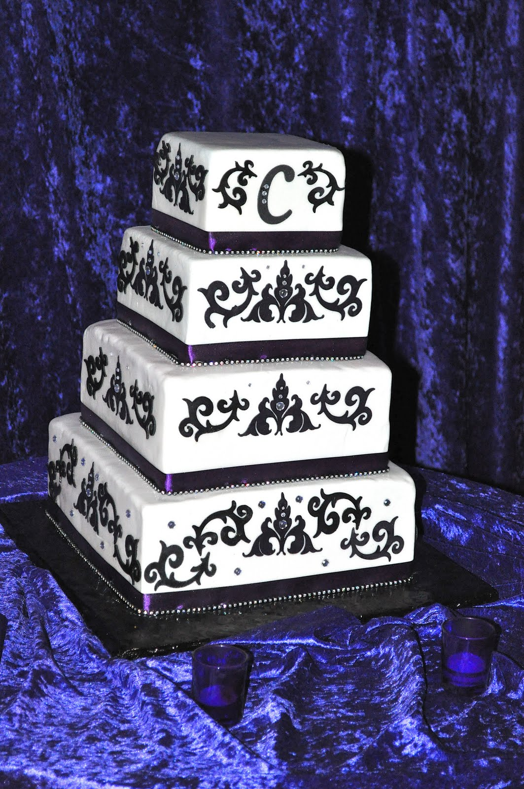 Purple And Black Wedding Cakes Viewing Gallery