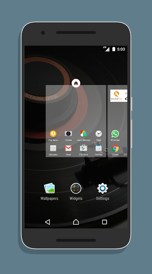XperiaOS Layers Theme Screenshot 1