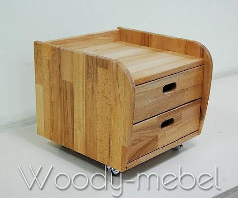 Детская мебель: ящичный блок на роликовых резиновых опорах