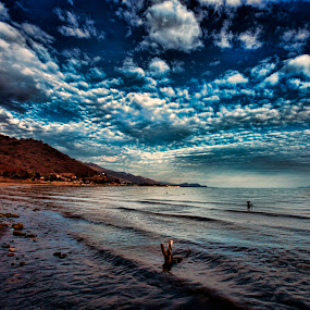 Shore and clouds by Cristobal Garciaferro Rubio - Landscapes Waterscapes ( water, clouds, shore, lake lagoon )