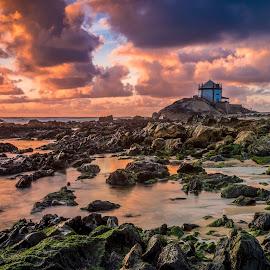 Fire by Francisco Machado - Landscapes Sunsets & Sunrises ( miramar, sunset, senhor da pedra, landscape )