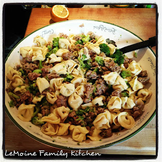 Tortellini with Italian Sausage & Broccoli