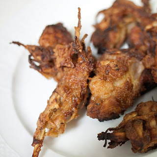 Pan-fried Crispy Chicken Or Turkey Nuggets With Gobo (burdock Root)