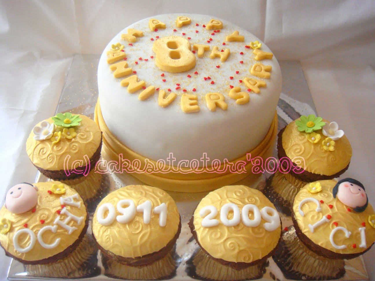 8th Wedding Anniversary Cake 8th Wedding Anniversary Cakes